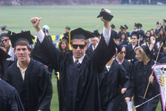 Graduates of the University of California stock photo