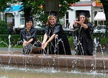 Graduates of the University Royalty Free Stock Image