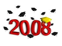 Graduatie 2008 - Rood Stock Afbeeldingen