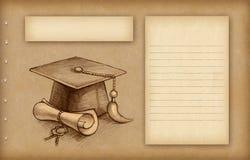 Graduatie glb en diploma oude achtergrond royalty vrije stock afbeelding beeld 38347966 - Geloofsbrieven ontwerp ...