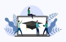 Graduatie GLB met grijze latop vector illustratie