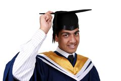 Graduatie met het knippen van weg royalty-vrije stock afbeelding