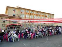 Graduatieceremonie op de school in Turkije Royalty-vrije Stock Afbeeldingen