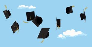 Graduatieceremonie Studentenviering Vector Royalty-vrije Stock Afbeeldingen