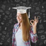 Graduatieconcept stock foto's