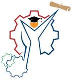 Graduatieembleem stock illustratie