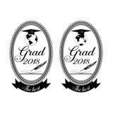 Graduatieembleem, de malplaatjes van het kentekenontwerp Royalty-vrije Stock Foto