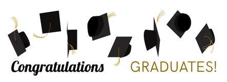 Graduatiehoed, GLB weg Vector Stock Afbeelding