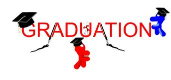 Graduating Celebrations Stock Photography