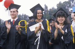 The graduating class of 2002 Stock Image