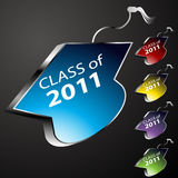 Graduating Class Cap Buttons. An image of a graduating class cap buttons - 2011 Stock Photo