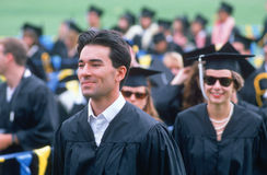 Graduating class walking Royalty Free Stock Images