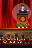 Graduating Man Giving a Speech Royalty Free Stock Image