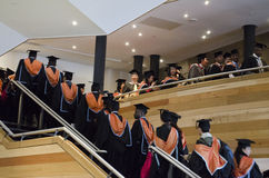 Graduating postgraduate students Royalty Free Stock Images