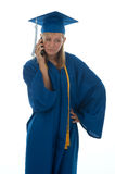 Graduating senior on the phone Stock Photo