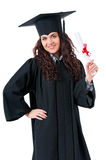 Graduating student girl Stock Photos