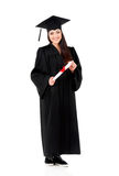 Graduating student girl Stock Images