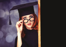 Graduating student Royalty Free Stock Images