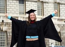 Graduating student - girl sally Stock Images
