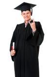 Graduating student man Stock Photography