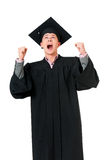 Graduating student man Royalty Free Stock Images