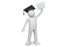 Graduating student / senior with diploma stock illustration