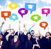 Graduating Students Celebrating Royalty Free Stock Photo