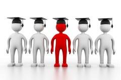 Graduating team. 3d illustration of Graduating team Stock Images