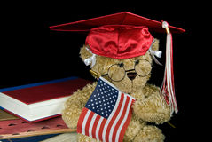 graduating teddy bear Stock Images