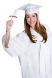Graduating Teen Girl. Pretty teen smiling girl graduating stock photo