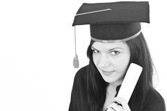 Graduating woman Stock Photography