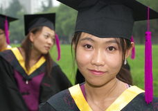 Graduation. Student wear uniform on graduation day Royalty Free Stock Images