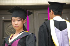 Graduation. Students wear uniform on graduation day Stock Photography