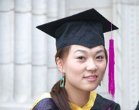 Graduation. Student in gown, the day they graduate from university Royalty Free Stock Images