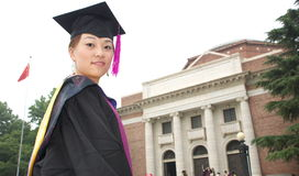 Graduation. Student wear uniform on graduation day Stock Image