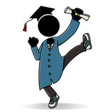 Graduation. A happy student pass his grade with joy Stock Photo