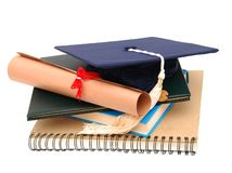 Graduation. Educational concept's supplies on graduation day Royalty Free Stock Image