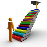 Graduation. Ladder of success and Graduation. Clipping path included Stock Photos
