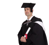 Graduation. Man in a graduation outfit stock image
