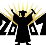 Graduation 2007/eps. Illustration depiction a 2007 graduate in silhouette...eps available Stock Photo