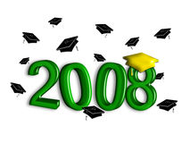 Graduation 2008 - Green Royalty Free Stock Photography