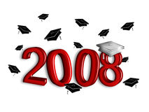 Graduation 2008 - Silver and Garnet Stock Image