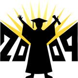 Graduation 2009/eps. Illustration depicting a 2009 graduate in silhouette...eps available royalty free illustration