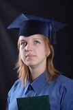 Graduation. Portrate of a student girl graduated from the university Stock Photo