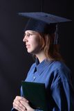 Graduation. Portrate of a student girl graduated from the university Stock Photography