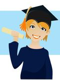 Graduation. A woman was celebrating the graduation Royalty Free Stock Photography