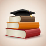Graduation. Education concept with copy space stock illustration