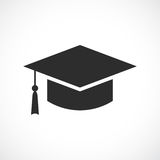 Graduation academic hat icon. Graduation academic hat vector icon Stock Photos