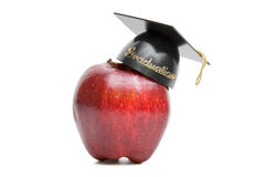 Graduation apple Royalty Free Stock Photography