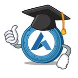 Graduation Ardor coin character cartoon. Vector illustration Stock Images